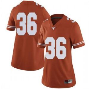 Women Texas Longhorns Kamari Williams #36 Limited Orange Football Jersey 858729-906