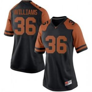 Women Texas Longhorns Kamari Williams #36 Replica Black Football Jersey 436945-171
