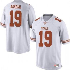 Men Texas Longhorns Kartik Akkihal #19 Game White Football Jersey 132210-211
