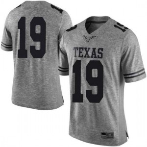Men Texas Longhorns Kartik Akkihal #19 Limited Gray Football Jersey 823433-495