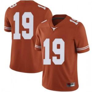 Men Texas Longhorns Kartik Akkihal #19 Limited Orange Football Jersey 827950-627