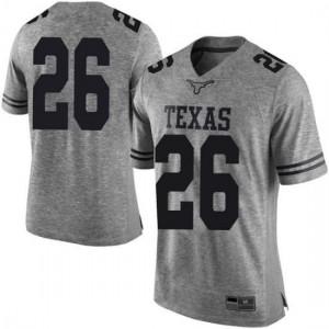 Men Texas Longhorns Keaontay Ingram #26 Limited Gray Football Jersey 828964-982