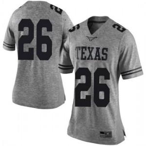 Women Texas Longhorns Keaontay Ingram #26 Limited Gray Football Jersey 709851-264