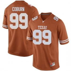 Men Texas Longhorns Keondre Coburn #99 Game Orange Football Jersey 471925-345