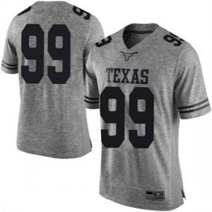 Men Texas Longhorns Keondre Coburn #99 Limited Gray Football Jersey 746237-141