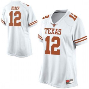 Women Texas Longhorns Kerwin Roach II #12 Game White Football Jersey 140024-916