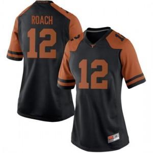 Women Texas Longhorns Kerwin Roach II #12 Game Black Football Jersey 257821-467