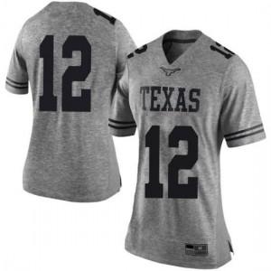 Women Texas Longhorns Kerwin Roach II #12 Limited Gray Football Jersey 122021-664