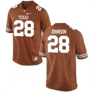 Women Texas Longhorns Kirk Johnson #28 Game Tex Orange Football Jersey 180139-656