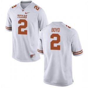 Women Texas Longhorns Kris Boyd #2 Authentic White Football Jersey 539557-780