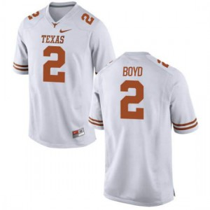 Youth Texas Longhorns Kris Boyd #2 Authentic White Football Jersey 500594-694