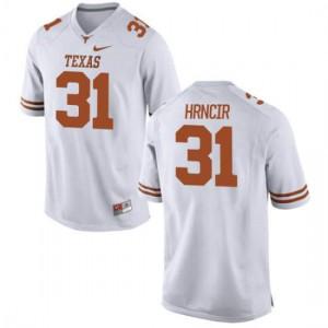 Men Texas Longhorns Kyle Hrncir #31 Replica White Football Jersey 632907-762