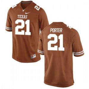 Men Texas Longhorns Kyle Porter #21 Authentic Tex Orange Football Jersey 529950-516