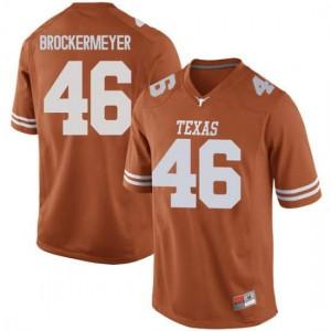 Men Texas Longhorns Luke Brockermeyer #46 Game Orange Football Jersey 997614-911