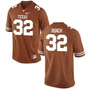Men Texas Longhorns Malcolm Roach #32 Authentic Tex Orange Football Jersey 129791-808