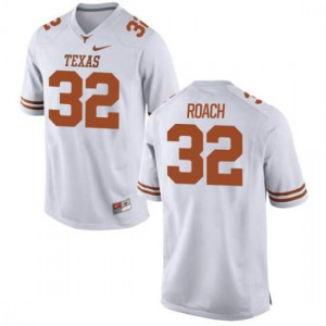 Men Texas Longhorns Malcolm Roach #32 Authentic White Football Jersey 675972-912