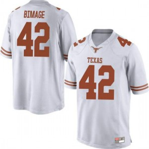 Men Texas Longhorns Marqez Bimage #42 Game White Football Jersey 576294-725