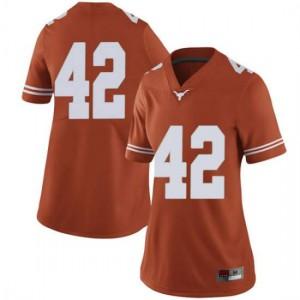 Women Texas Longhorns Marqez Bimage #42 Limited Orange Football Jersey 243082-610