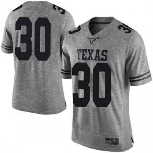 Men Texas Longhorns Mason Ramirez #30 Limited Gray Football Jersey 627542-170