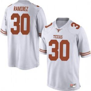Men Texas Longhorns Mason Ramirez #30 Replica White Football Jersey 874149-558