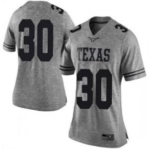 Women Texas Longhorns Mason Ramirez #30 Limited Gray Football Jersey 267573-227