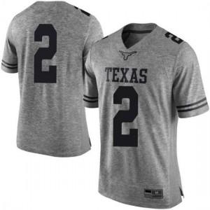 Men Texas Longhorns Matt Coleman III #2 Limited Gray Football Jersey 874572-278