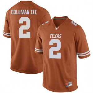 Men Texas Longhorns Matt Coleman III #2 Replica Orange Football Jersey 142771-481