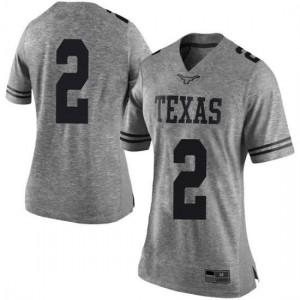 Women Texas Longhorns Matt Coleman III #2 Limited Gray Football Jersey 730142-153