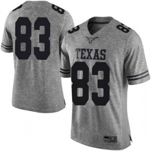 Men Texas Longhorns Michael David Poujol #83 Limited Gray Football Jersey 647177-818