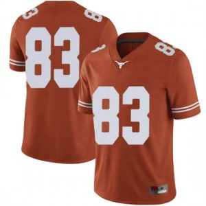Men Texas Longhorns Michael David Poujol #83 Limited Orange Football Jersey 391067-525