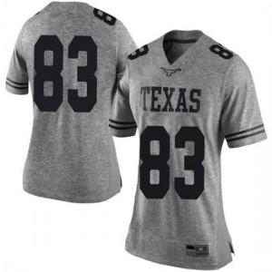 Women Texas Longhorns Michael David Poujol #83 Limited Gray Football Jersey 826489-746