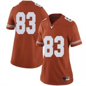 Women Texas Longhorns Michael David Poujol #83 Limited Orange Football Jersey 406880-690