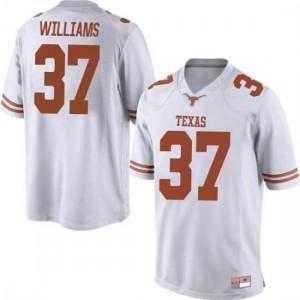 Men Texas Longhorns Michael Williams #37 Game White Football Jersey 394267-254