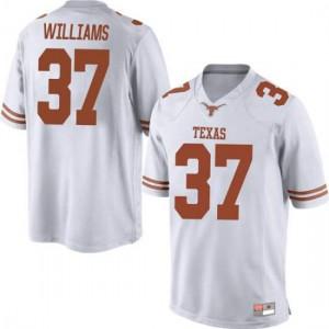 Men Texas Longhorns Michael Williams #37 Replica White Football Jersey 212279-438