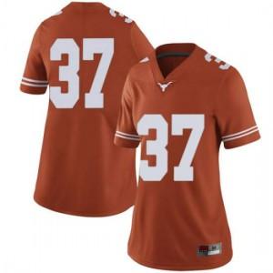 Women Texas Longhorns Michael Williams #37 Limited Orange Football Jersey 667980-727