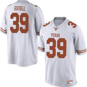 Men Texas Longhorns Montrell Estell #39 Game White Football Jersey 962101-453