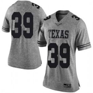 Women Texas Longhorns Montrell Estell #39 Limited Gray Football Jersey 608917-170