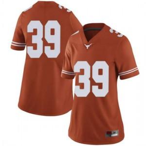 Women Texas Longhorns Montrell Estell #39 Limited Orange Football Jersey 364187-893