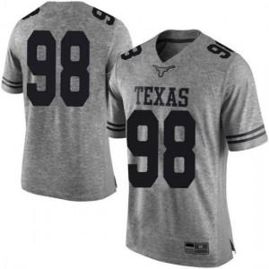 Men Texas Longhorns Moro Ojomo #98 Limited Gray Football Jersey 389753-748