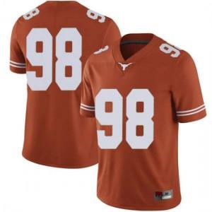 Men Texas Longhorns Moro Ojomo #98 Limited Orange Football Jersey 891785-674