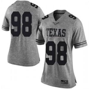 Women Texas Longhorns Moro Ojomo #98 Limited Gray Football Jersey 905003-565