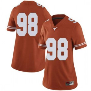 Women Texas Longhorns Moro Ojomo #98 Limited Orange Football Jersey 597901-603