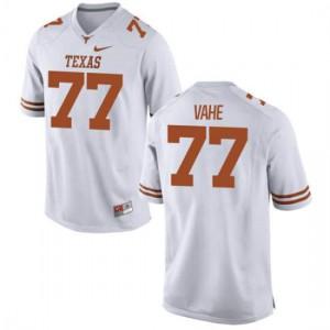 Women Texas Longhorns Patrick Vahe #77 Authentic White Football Jersey 294561-747