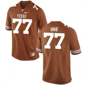 Women Texas Longhorns Patrick Vahe #77 Game Tex Orange Football Jersey 317137-485