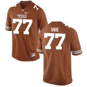Women Texas Longhorns Patrick Vahe #77 Replica Tex Orange Football Jersey 284662-604