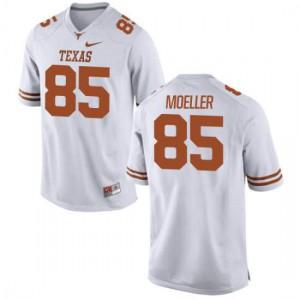 Women Texas Longhorns Philipp Moeller #85 Replica White Football Jersey 983617-592