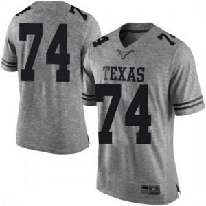 Men Texas Longhorns Rafiti Ghirmai #74 Limited Gray Football Jersey 662541-785