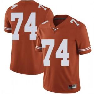 Men Texas Longhorns Rafiti Ghirmai #74 Limited Orange Football Jersey 818240-557
