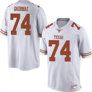 Men Texas Longhorns Rafiti Ghirmai #74 Replica White Football Jersey 564591-788