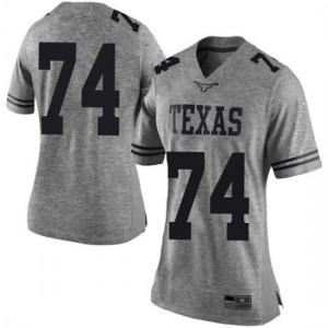 Women Texas Longhorns Rafiti Ghirmai #74 Limited Gray Football Jersey 710535-358